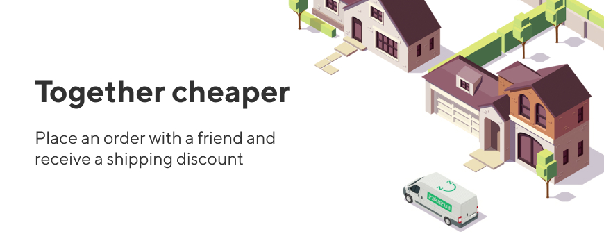 """Promotion """"Together is cheaper"""""""