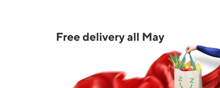 Free delivery all May*